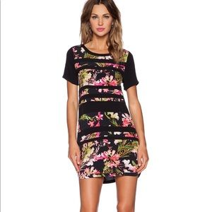 Lovers + Friends Emily striped tropical dress sz S
